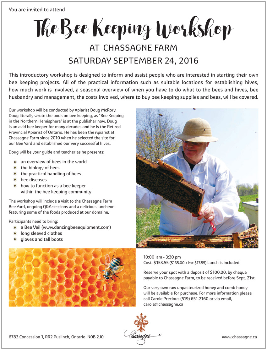 Bee Keeping Workshop Flyer